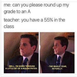 Can you please round my grade up to an A