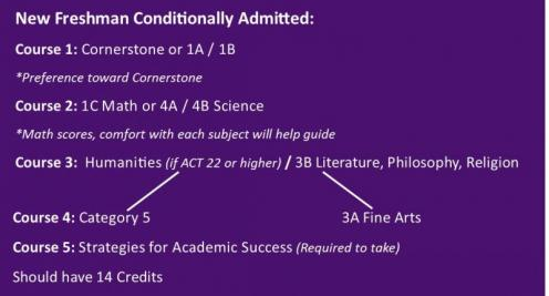 New freshman conditionally admitted: