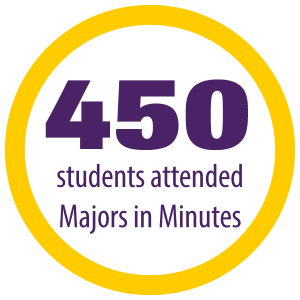 450 students attend majors in minutes