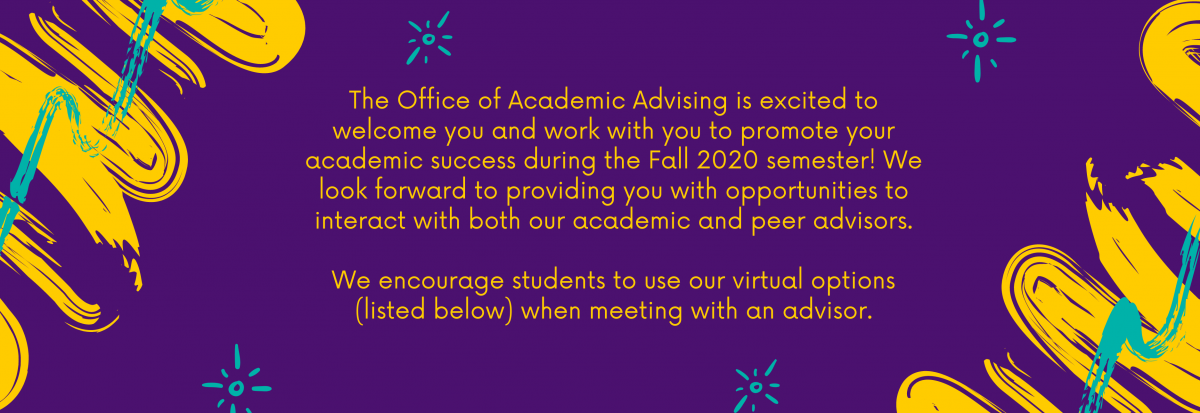 Welcome from the Office of Academic Advising