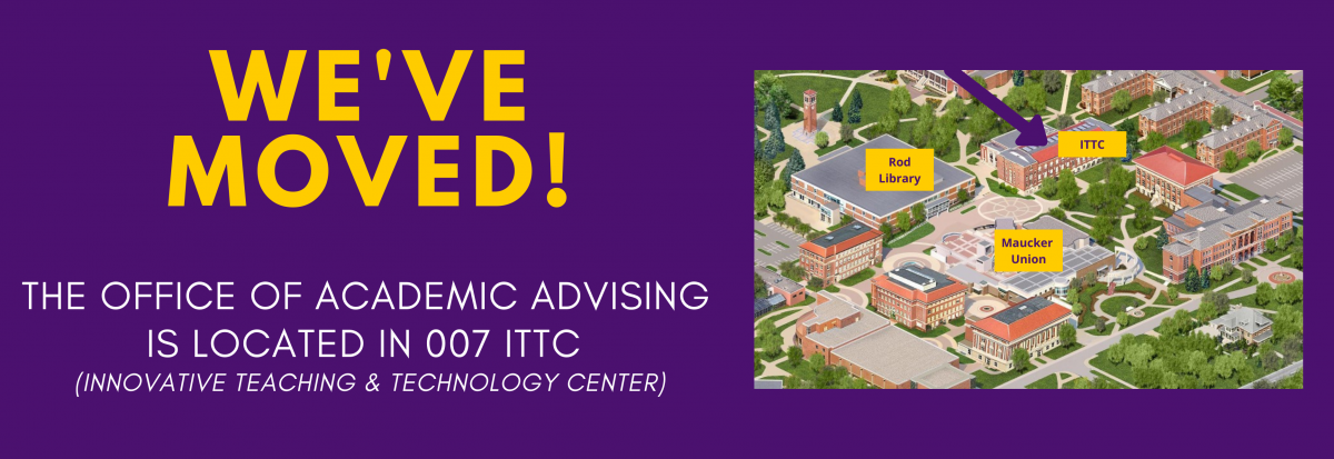The Office of Academic Advising Moved to ITTC 007